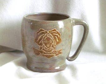 Beer the Alsatian stoneware mug