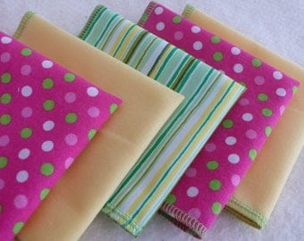 Napkins for Children - School or Home, Eco-Friendly, Colourful Set of 5