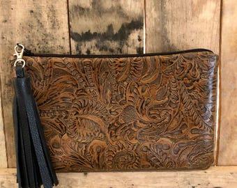 Leather Wristlet