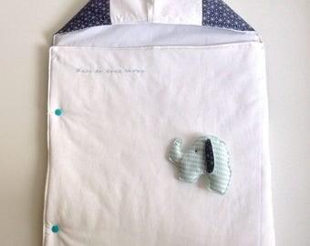 Bunting fabric Japanese blue