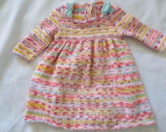 Baby wool long sleeve dress