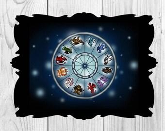 Art Print Dragon Zodiacsigns Digital Download