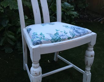 Shabby Chic/vintage style dining chair/dressing table seat/entry hall chair/upcycled/floral