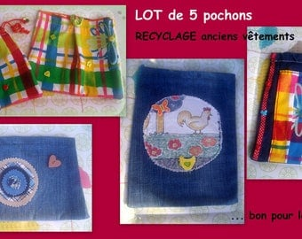SALE = set of 5 upcycled goodies!