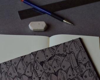 Pocket notebook pasta hard 11x15cm