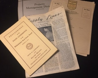 Lot of vintage real estate booklets and letterhead- 1930s/40s