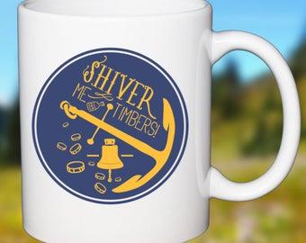 Pirate Coffee Mug Shiver Me Timbers