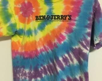 90's vintage Ben & Jerry's tie dye T-shirt