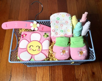 It's A Girl Gift Basket. Baby Girl Gift Basket.