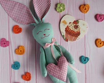 Gift, rabbit soft, plush rabbit