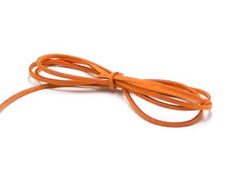 5 meters of Suede, orange, 2.8 mm x 1, 5mm