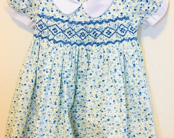 Girls Smocked Dress, Princess Smocked Dress