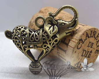 1 pcs QDW257 pendant, bronze, Elephant
