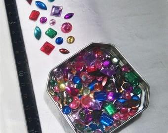 Set 5-18 mm multifaceted rhinestones