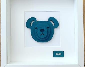 3D bear head picture