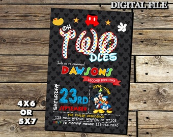 Mickey Mouse Invitation,Mickey Mouse Birthday Invitation,Mickey Mouse,Birthday Invitation,Mickey Mouse Birthday,mickey Mouse Party