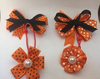 Holloween Hair Bows Set for girls |  Holiday Hair Bows