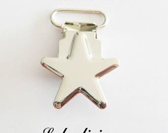 40 star, pacifier pacifier blanket from 20 mm metal clips