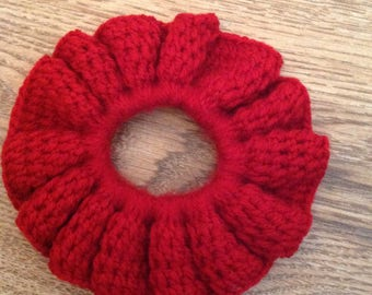 Red flower hair band