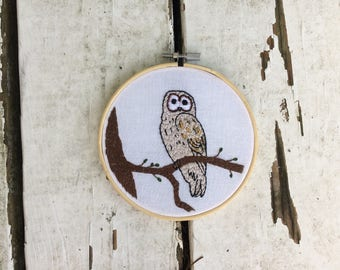 Owl Portrait 3 Embroidery