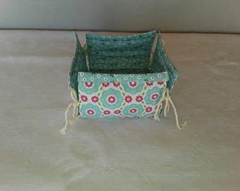 "small cotton fabric basket ""Dora"""