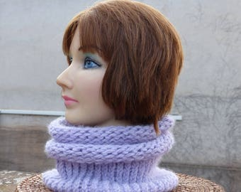 snood very soft and light purple women
