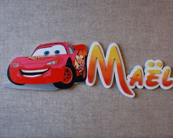 door plate Cars - first name choice