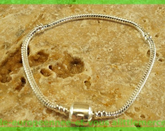 No. 48 clasp 19cm for European charms Pearl silver bracelet