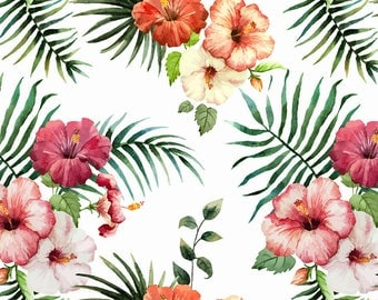 ORIGINAL design, durable and WASHABLE PLACEMAT - watercolor flowers and ferns - classic.