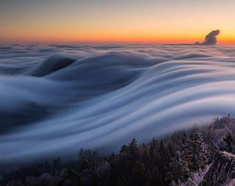 ORIGINAL design, durable and WASHABLE PLACEMAT - landscape - mist coat - classic.