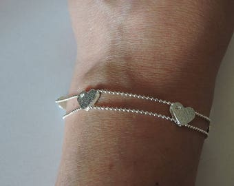 Beautiful sterling silver hearts Bracelet