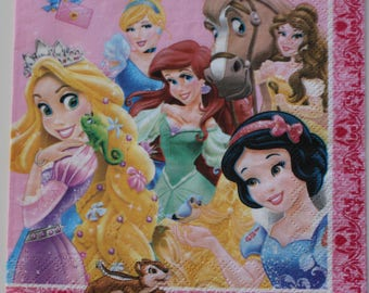 Princess Disney 4 identical patterns on paper towel