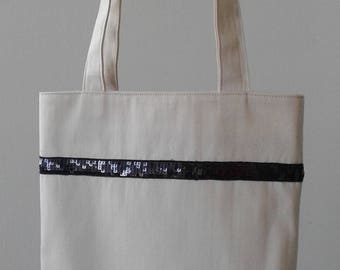 Clearance sale - Tote Bag black glitter