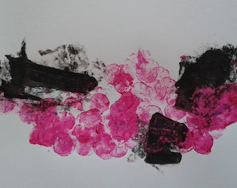 Unique two-tone abstract acrylic white background