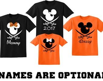 Disney Shirts, Disney Halloween Shirts, Disney Halloween Matching Family Vacation Disney Shirts, Mickey Minnie Halloween , Personalized