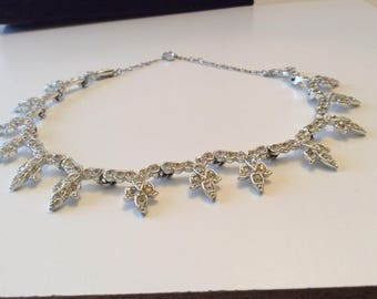 Signed Rhinestone Choker Necklace by Sarah Coventry