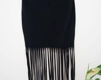 Black tassel skirt