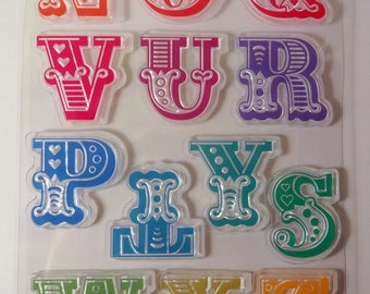 Stamp clear alphabet - letters N to Z - large letters - scrapbooking
