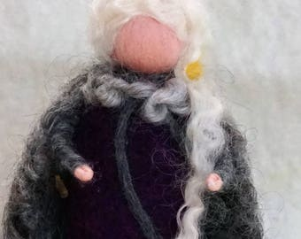Felt figure unique felting seasonal decor gift