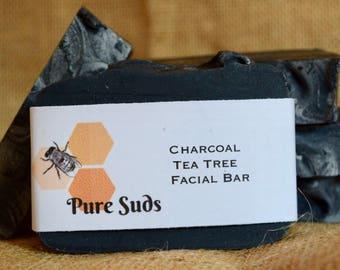 Charcoal Tea Tree Facial Bar