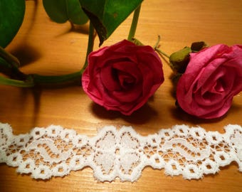 Small white stretch lace 2 cm wide