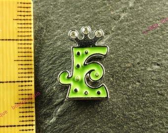 Pearl e width N7 rhinestone Crown for bracelet