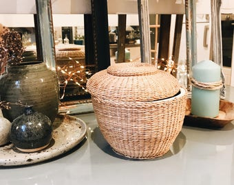 Jar covered with Wicker