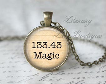 Magic & Witchcraft '133.43 Magic' Dewey Decimal, Library Books, Reading Necklace or Keyring, Keychain.