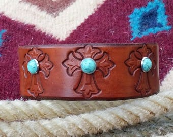 Southwestern Leather Cuff