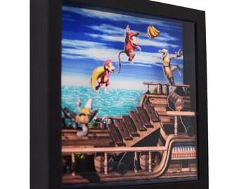 "Donkey Kong Country 2 - 3D Shadow Box (9"" x 9"")"