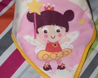 Small adjustable bandana bib fairy princess.