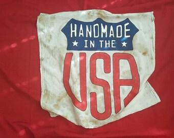 Handmade in the USA flag