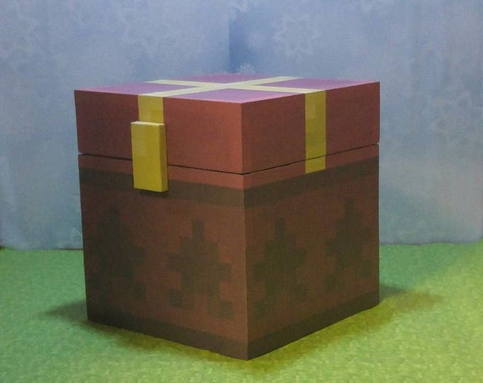 Minecraft chest Christmas (unofficial) handmade