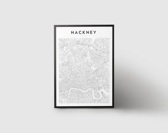 Hackney Map Print
